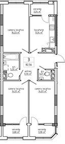 3-комнатная 82.56 м2