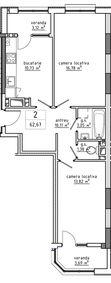 2-комнатная 62.67 м2