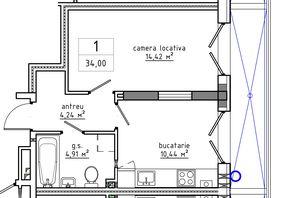 1-комнатная 34.0 м2