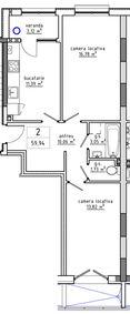 2-комнатная 59.94 м2