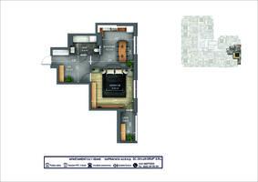 1-комнатная 43.8 м2
