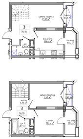 3-комнатная 76.1 м2