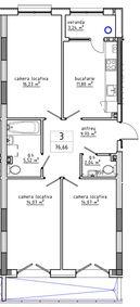 3-комнатная 76.66 м2