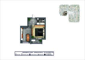 1-комнатная 38.8 м2