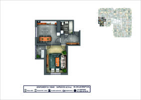 1-комнатная 42.3 м2