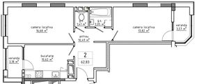 2-комнатная 62.83 м2