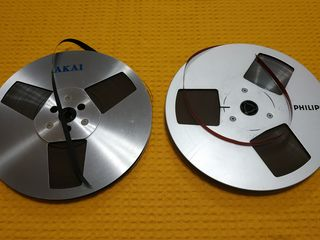 Металлические катушки с магнитной лентой 18 см, 525 м.