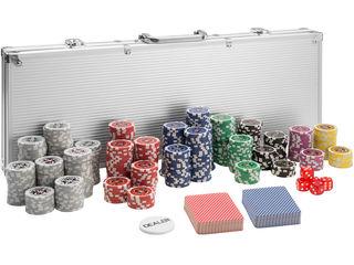 Poker Set de 500 cipuri. Набор для покера с номиналами