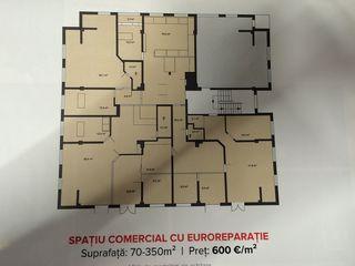 Spatii comerciale de la 22 M/p,diferite locatii,cu reparatie sau varianta alba!!! Dela 400 euro/m!!!