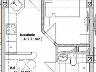 Ofertă promoțională, 2 camere, 56 m2, Botanica, 27300 euro, Bucătăria are 17 m2!!!