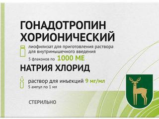 Гонадотропин (Gonadotropin) хорионический (Прегнил,Pregnil) 500, 1000, 1500 и 5000 ME. Доставка.