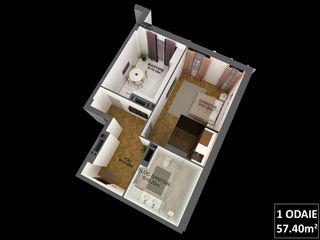 Apartamente cu 1 odaie, centru,670 euro/1m2