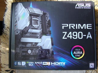 ASUS PRIME Z490-A Motherboard, 1200 soket, DDR4, NOU, sigilat – 3200 lei