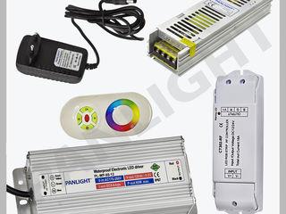 Aparataj led, surse de alimentare led, transformator banda led, controller rgb led, panlight