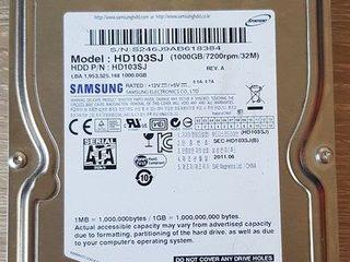 Samsung 1TB SATA 3.5 Hard Drive