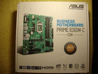 Placa de baza  asus  prime b360m-c business motherboard, lga 1151, nou, sigilat. pret: 75 euro