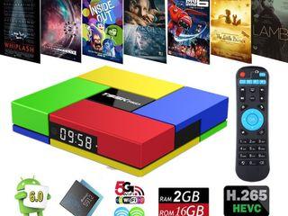 Андроид ТВ приставка WiFi медиаплеер Android Smart TV BOX IPTV HDMI