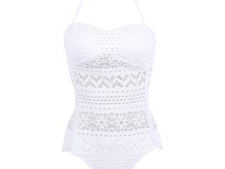 Красивый ажурный белоснежный купальник размер L-XL, бело-кремовый размер S