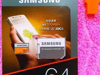 Micro SD Samsung Evo 64 Gb. 250 lei.