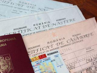 Certificat de naştere/căsătorie româneşti