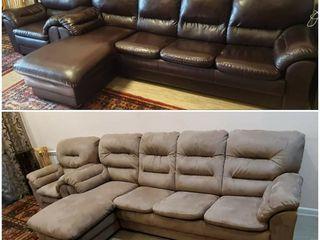 Перетяжка диванов ,стульев, кресел ,кухонный уголок,