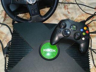 Продам Xbox Original (прошитая) + Руль