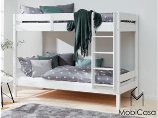 Cauţi pat pentru 2 copii. Patul Ara etajat din lemn e ideal!