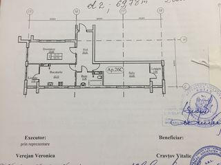 Vindem  2 odai (69.99 m2) construit de Inamstro pe strada Avram Iancu , sectorul centru