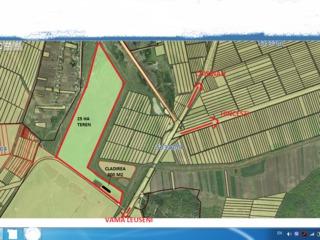 Constructie 800 m2 si teren 25 ha la traseu M1 linga vama Leuseni