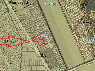 1.73 Hectare la Magistrala M2 , Gratiesti, Cricova, Magdacesti