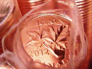 Канада: монета 1 цент 2012 г.