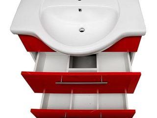 Шкаф с умывальником для ванны Burgas RED 85 см KF 4485
