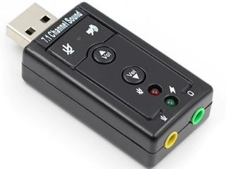 Audio USB, virtual 7.1 channel, External 3d Sound adapter. Windows 98-10.