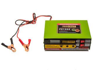Инверторное зарядное устройство Procraft PZ-1224/Dispozitiv de incarcare si pornire/Livrare/Garantie