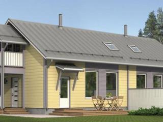 Строительство СИП домов в Молдове. Таунхаус с мансардным этажом для двух семей.