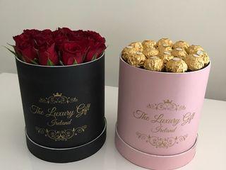 Cutii rotunde pentru flori Chisinau si cadouri