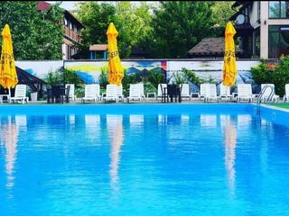 Продаю действующий бизнес. Зона отдыха: Ресторан, бассейн, мини отель, терассы, озеро с рыбой.