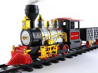 Железная дорога с паровозом (новый)