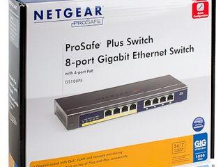 PoE Gigabit 8-Port Netgear, TP-Link