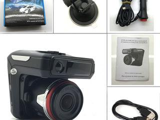 3 в 1 автомобильный видеорегистратор камера, анти радар-детектор, встроенный gps logger.