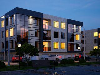 Peretii din caramida rosie, 4 apartamente pe etaj, bloc cu 3 etaje