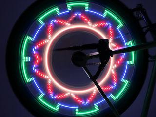 LED подсветка для колес велосипеда, 32 узора, узор меняется!