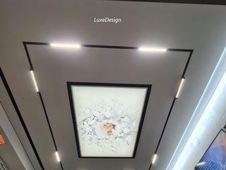 световые линие на потолке