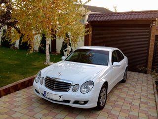 E Class W211 albe/negre (белые/черные) - 10 €/ora (час) & 65 €/zi (день)