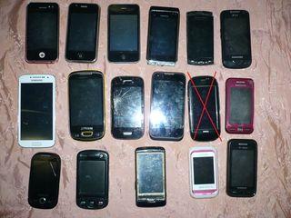 17 сенсорных телефонов на запчасти la piese