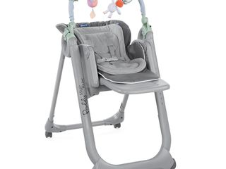 chicco polly magic relax  2018  3in 1  0-36 kg color dove grey 4 колеса