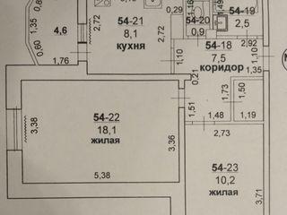 2-комнатная квартира на Солнечном (БАМ), Бендеры.