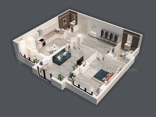 Apartament de 83,63 m2 cu 2 odăi + living! Sec. Râșcani!