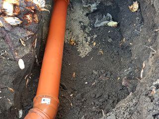 Sapam Canalizare, instalare septik,tranșee-șanț pentru apeduct canalizare