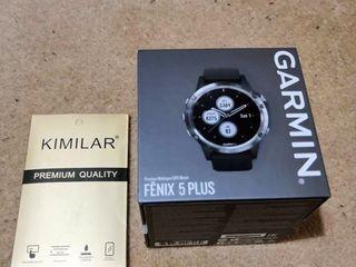 Garmin fenix 5 plus silver with black band